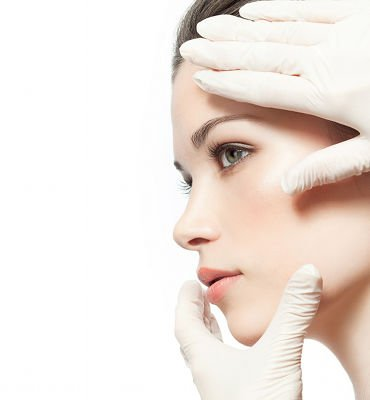 Facelift corrects sagging in the central area of the face